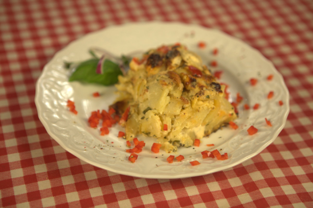 Zapiekanka z ziemniaków i topionego sera