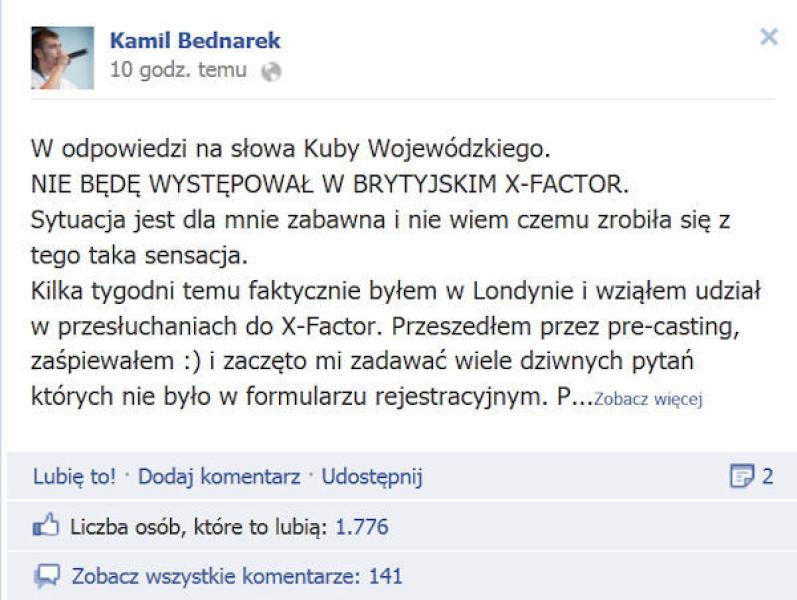Bednarek facebook