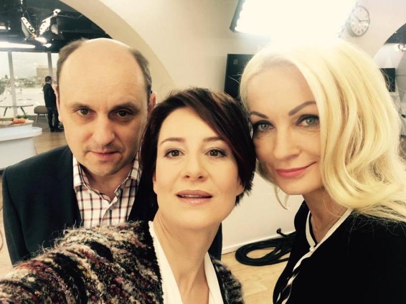Adam Woronowicz, Maja Ostaszewska i producent Dorota Kośmicka-Gacke