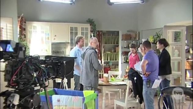 """Mariusz Czerkawski na planie """"Wszyscy kochają Romana"""""""