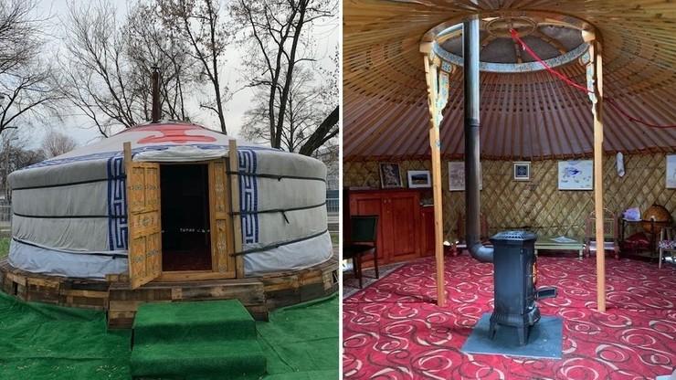 """Strażnicy miejscy natrafili w Krakowie na... mongolski namiot. W środku """"buchający ogniem piecyk"""""""