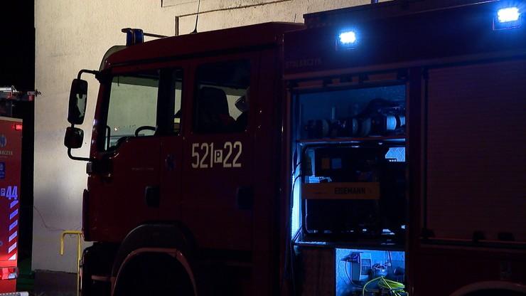 Warszawa: pożar w hotelu pracowniczym we Włochach