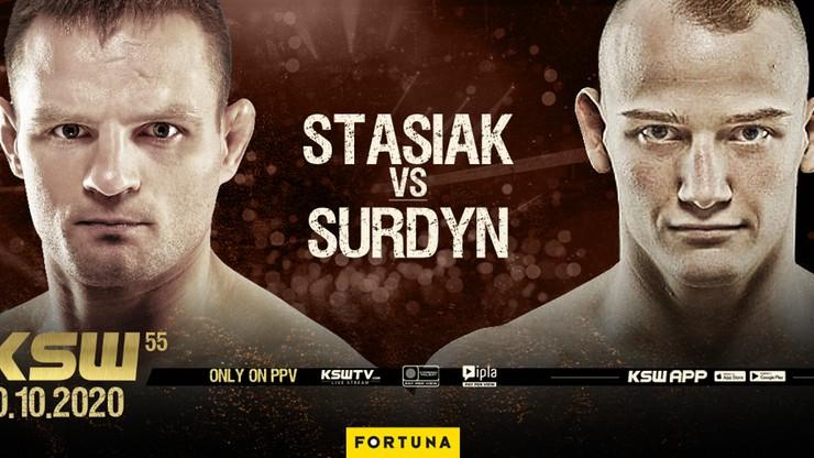 KSW 55: Damian Stasiak zmierzy się z Patrykiem Surdynem