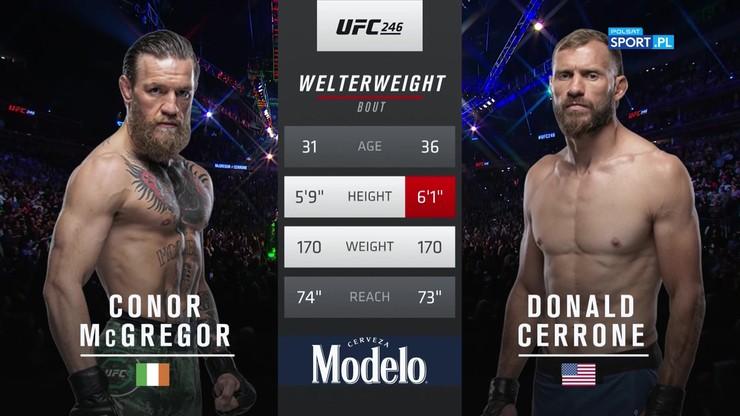 Conor McGregor - Donald Cerrone. Skrót walki