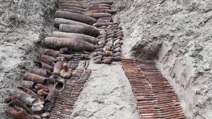Blisko 200 pocisków znaleziono w ciągu tygodnia na terenie dwóch nadleśnictw