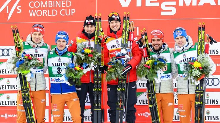 PŚ w kombinacji: Norwegowie Graabak i Riiber wygrali sprint drużynowy