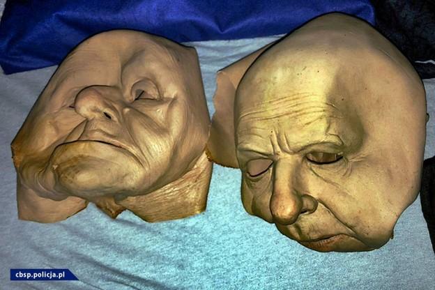 Maski przygotowane przez przestępców