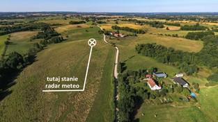 14.10.2020 00:00 Miejsce budowy radaru meteo w Użrankach na Mazurach z lotu ptaka