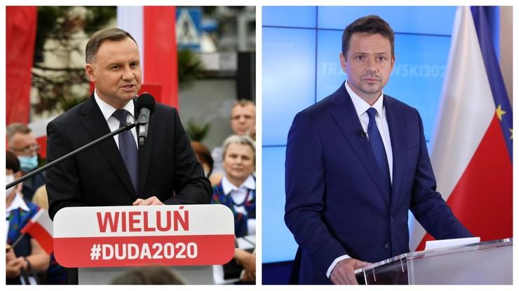Sondaż prezydencki. Duda i Trzaskowski ze wzrostem poparcia, dystansują resztę stawki