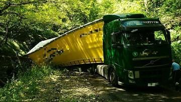 Ciężarówka z Polski, kierowca z Rosji, droga we Francji. Nie chciał jechać długim objazdem