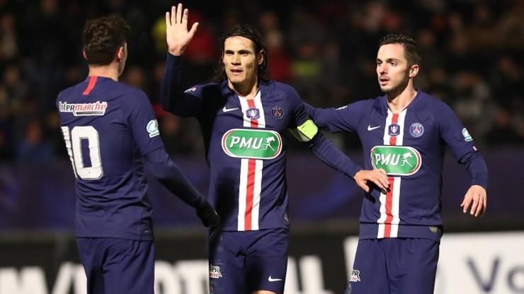 Puchar Francji: Wysoki triumf PSG nad szóstoligowcem. Bułka na ławce