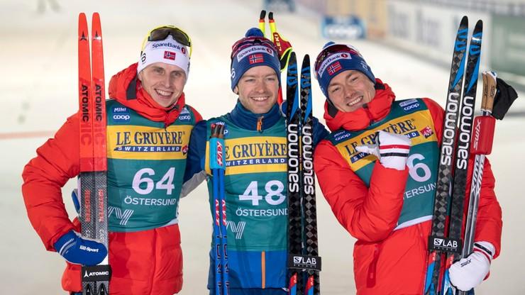 PŚ w biegach: Czterech Norwegów na czele w Oestersund