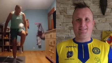 """""""Polski Messi"""" znowu to zrobił! Żonglerka papierem toaletowym w okolicy telewizora (WIDEO)"""