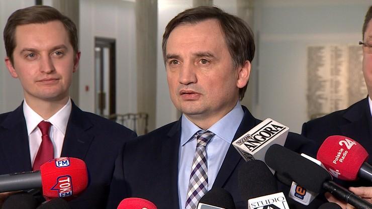 Ziobro: Sąd Najwyższy procedował z rażącym naruszeniem prawa
