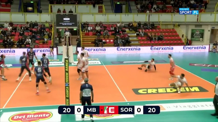 Vero Volley Monza – Globo Banca Pop Frusinate Sora 3:0. Skrót meczu