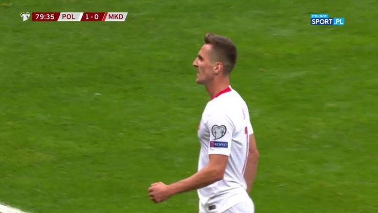 Polska - Macedonia Północna 2:0. Piękny gol Milika
