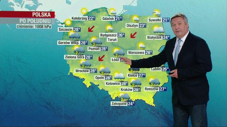 Pogoda - wtorek, 11 sierpnia - popołudnie