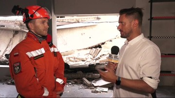 Polscy strażacy szukają ludzi pod gruzami w Bejrucie