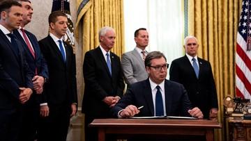 Prezydent Serbii nie wiedział, co podpisuje? Zaskoczenie podczas spotkania z Trumpem