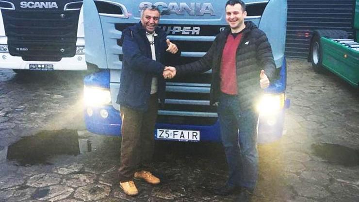 Irański kierowca Fardin Kazemi dostał ciężarówkę od Polaków. Wróci nią do domu