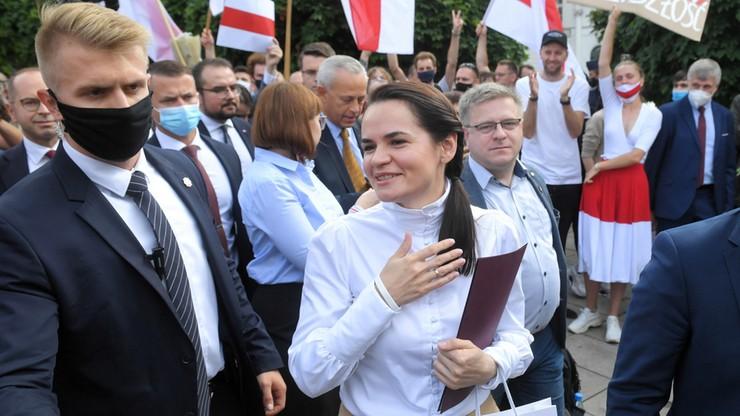 """Swiatłana Cichanouska w Polsce. """"Minęliśmy punkt, po którym nie ma powrotu"""""""
