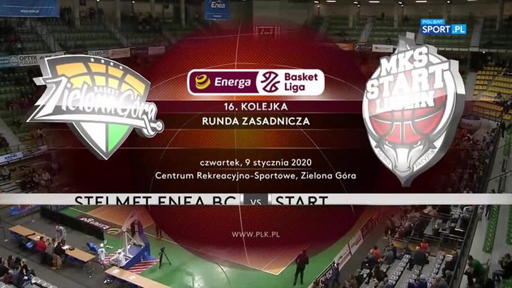 Stelmet Enea BC Zielona Góra - Start Lublin 100:93. Skrót meczu
