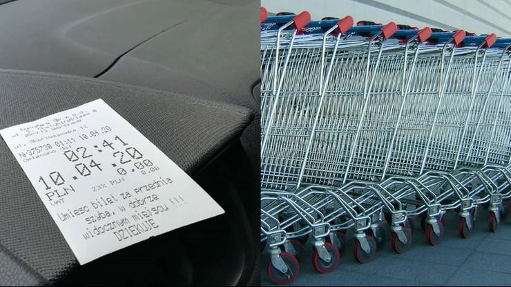 Sklepowe parkomaty, wózki i kosze. Czy da się bezpiecznie z nich korzystać?