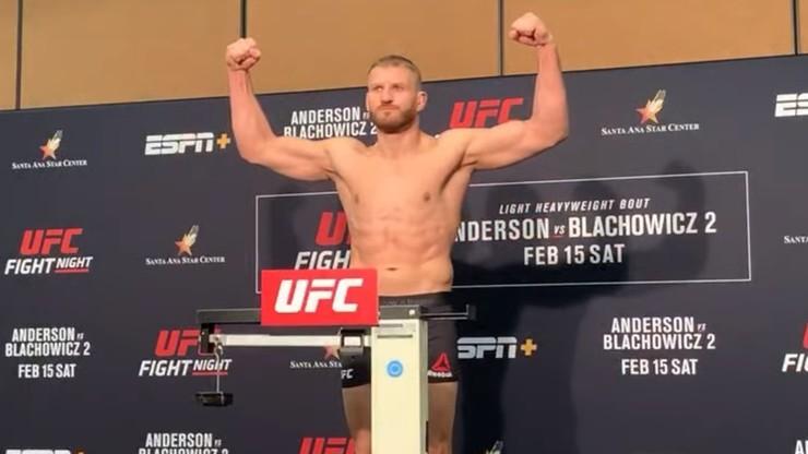 UFC: Błachowicz cięższy od Andersona! Wyniki ważenia