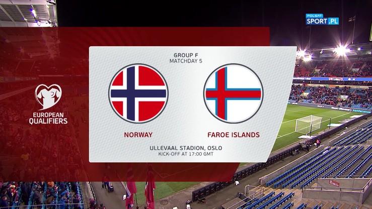 Norwegia - Wyspy Owcze 4:0. Skrót meczu