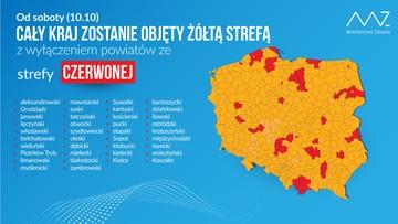 38 powiatów w czerwonej strefie. Premier: nie wykluczamy wprowadzenia stanu nadzywczajnego
