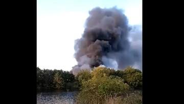 Wielki pożar śmieci w Nottingham. Od wielu godzin płonie 200 ton odpadów