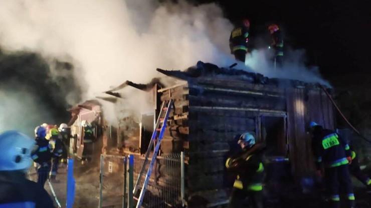 Ponad 50 strażaków gasiło pożar domu w Małopolsce