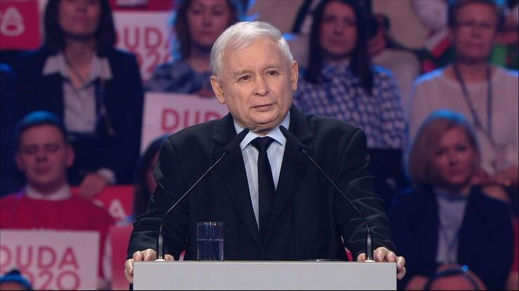 Konwencja wyborcza Andrzeja Dudy. Wystąpienie prezesa PiS Jarosława Kaczyńskiego