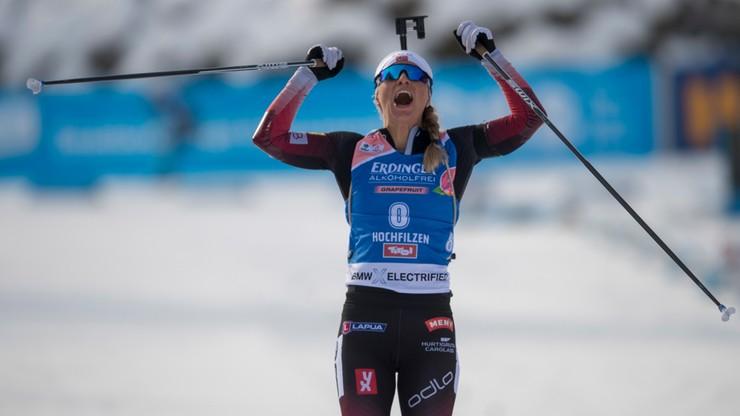 PŚ w biathlonie: Trzecia z rzędu wygrana Eckhoff, Polki daleko