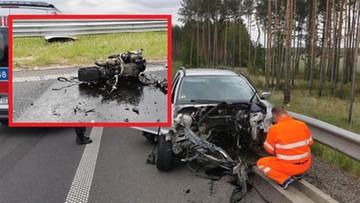 Złamał dożywotni zakaz prowadzenia pojazdów. Z bmw wypadł silnik