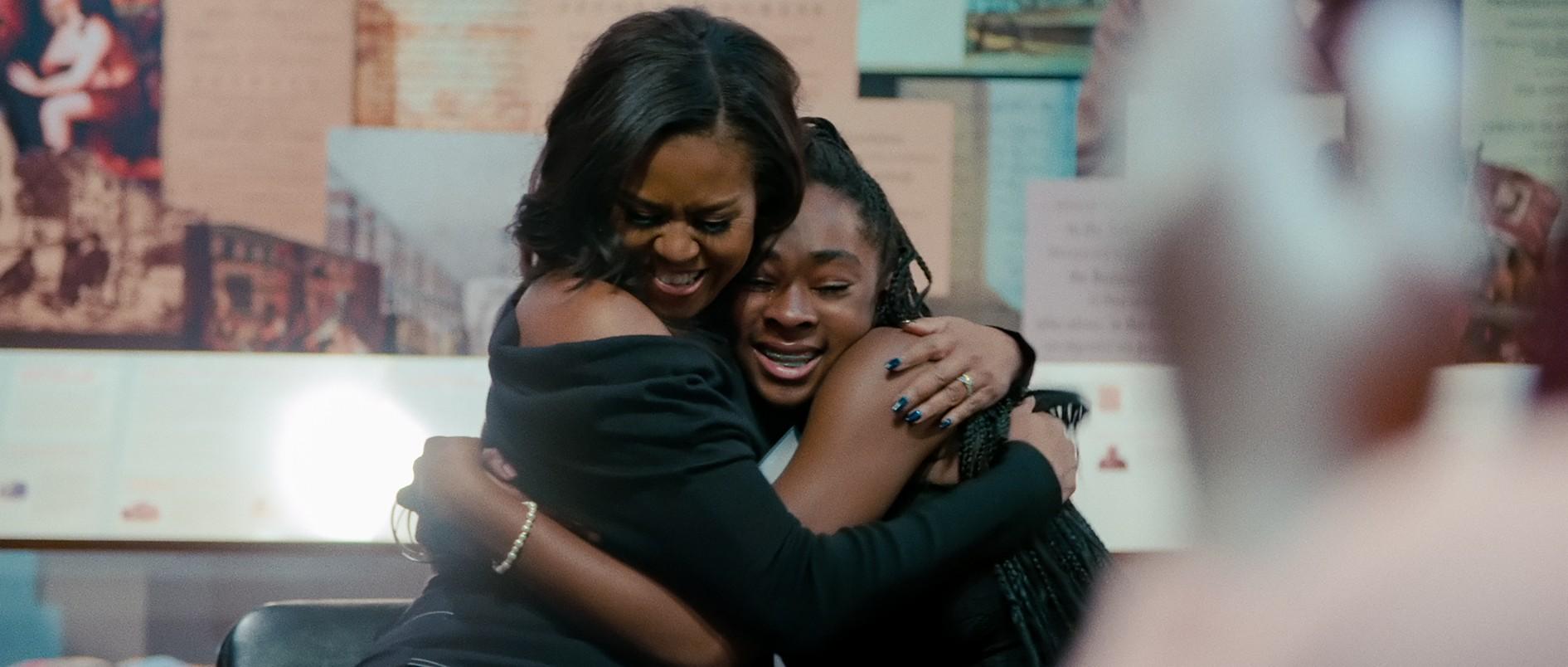 Michele Obama ze swoją fakną