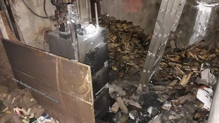 Pożar wybuchł w kotłowni
