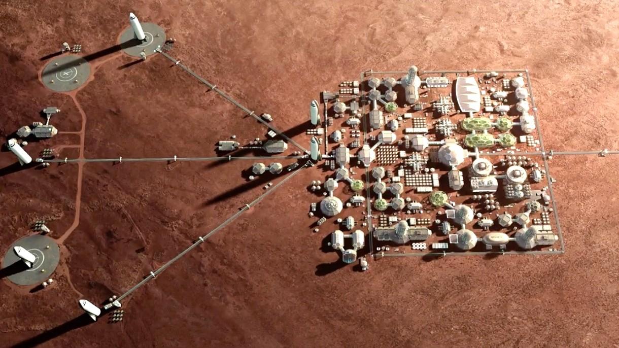 SpaceX zbuduje konstelację kosmicznego Internetu na orbicie Czerwonej Planety
