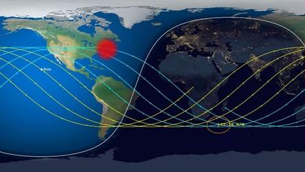 Kawałek chińskiej rakiety Długi Marsz 5B spadł do oceanu, niedaleko Nowego Jorku
