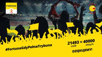 40000 złotych w ramach akcji #FortunaGdyPełnaTrybuna