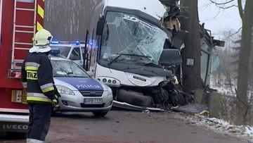Wypadek autobusu w Olszynach. Uczniowie wśród poszkodowanych