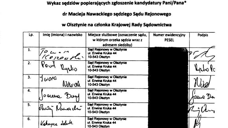 Sejm opublikował listy poparcia do KRS