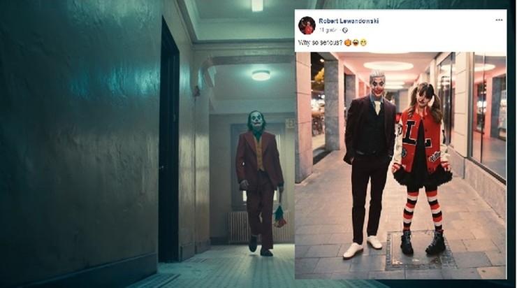 Lewandowski przebrany za Jokera na Halloween. Internet zawrzał, posypały się komentarze