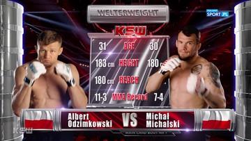 Michał Michalski - Albert Odzimkowski. Skrót walki