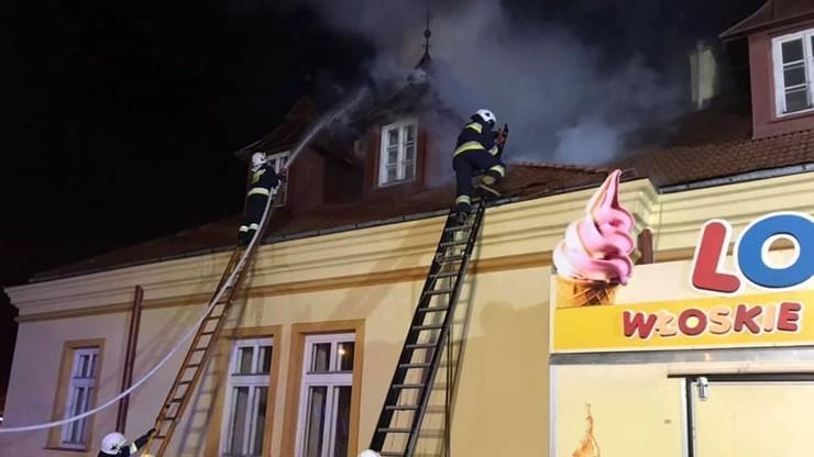 Pożar ratusza w Zakliczynie. Burmistrz pomagał wynosić zabytkowe przedmioty