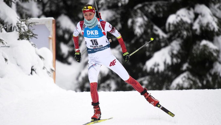 PŚ w biathlonie: Hojnisz-Staręga dziewiąta w sprincie