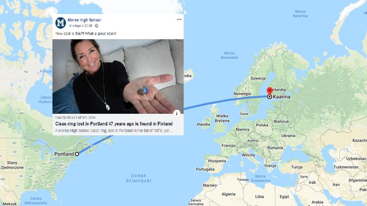 Zgubiła pierścień w toalecie prawie 50 lat temu. Znalazł się w lesie w Finlandii