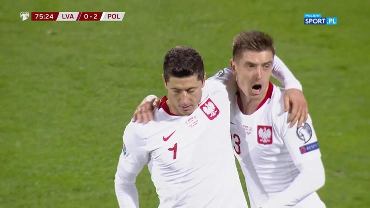 2019-10-10 Łotwa - Polska 0:3. Hat-trick Lewandowskiego