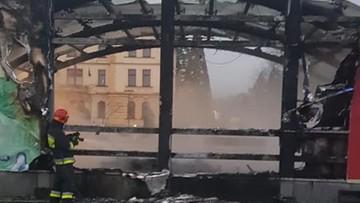 Pożar w Ustroniu. Spłonęła scena koło ratusza