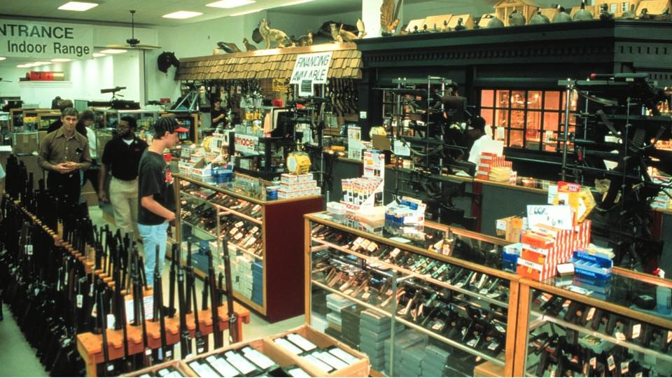 Sklep z bronią w Stanach Zjednoczonych